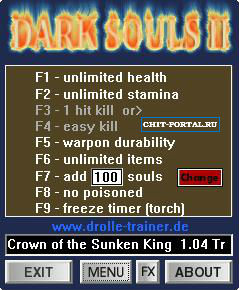 Crown of the Sunken King Трейнер (+9) [1.04] {dR.oLLe}